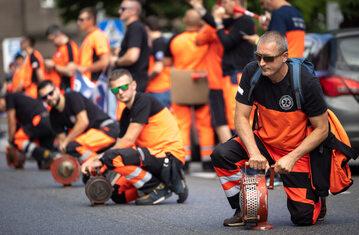 Protest ratowników medycznych z Katowic