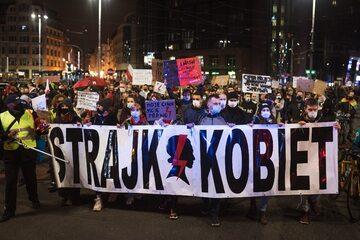 Protest Strajku Kobiet. Wrocław, 6 listopada