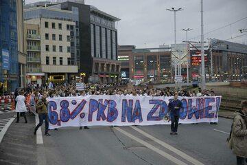 Protest studentów i pracowników medycznych we Wrocławiu