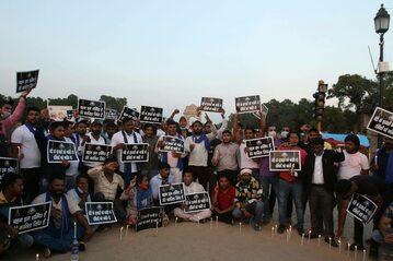Protest ws. 9-latki z Indii