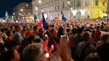 Protest z czwartku 26 lipca na Krakowskim Przedmieściu w Warszawie
