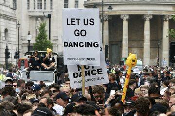 Protesty w Londynie, 27 czerwca, zdj. ilustracyjne