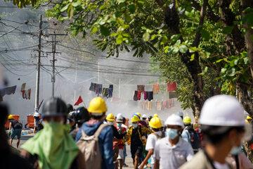 Protesty w Mjanmie