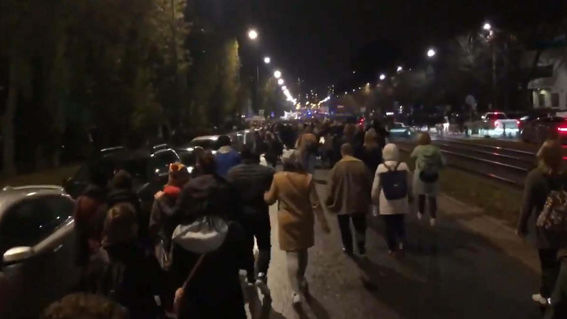 Protesty w Warszawie po wyroku TK