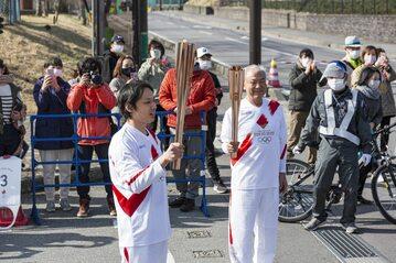 Przekazanie ognia olimpijskiego w Karuizawie