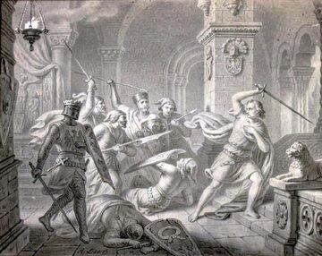 Przemysł II napadnięty w Rogoźnie przez margrabiów brandenburskich