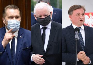 Przemysław Czarnek, Jarosław Kaczyński i Zbigniew Ziobro