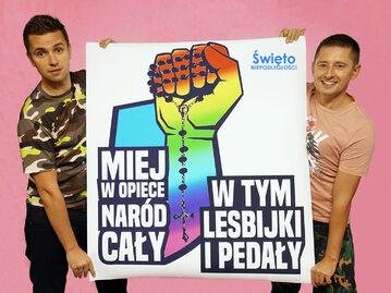 Przerobiona przez Jakuba i Dawida wersja plakatu z Marszu Niepodległości 2019