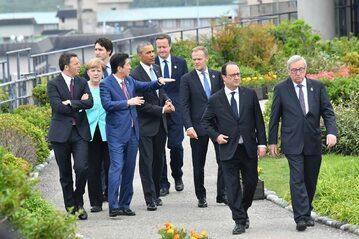 Przywódcy państw G7 oraz UE podczas szcyztu w Japonii w 2016 roku