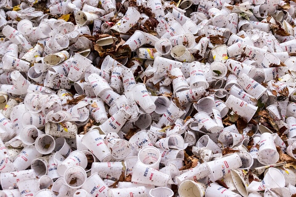Puste plastikowe kubki po kawie (zdj. ilustracyjne)