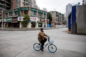Pustki na ulicach Wuhan