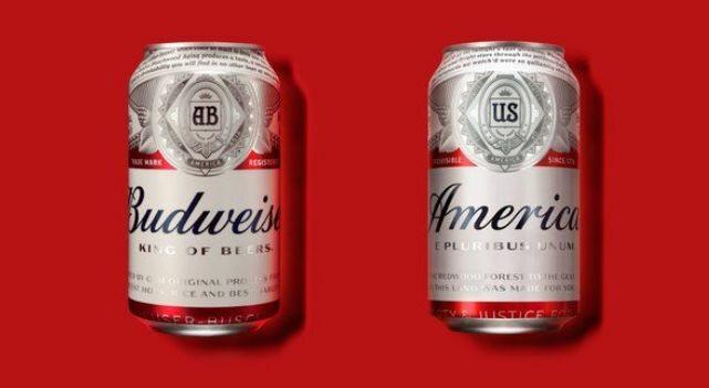 Puszki piwa Budweiser