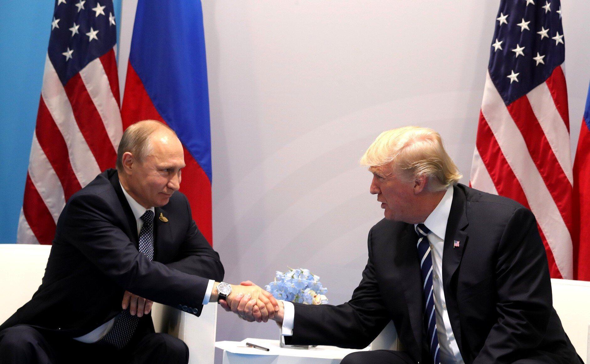 Putin i Trump podczas szczytu G20 w Hamburgu