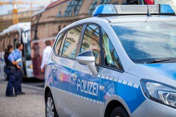 Radiowóz niemieckiej policji, zdj. ilustracyjne