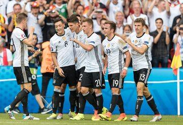 Radość Niemców po zdobyciu gola