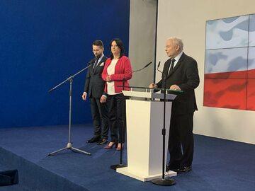 Radosław Fogiel, Anita Czerwińska i Jarosław Kaczyński