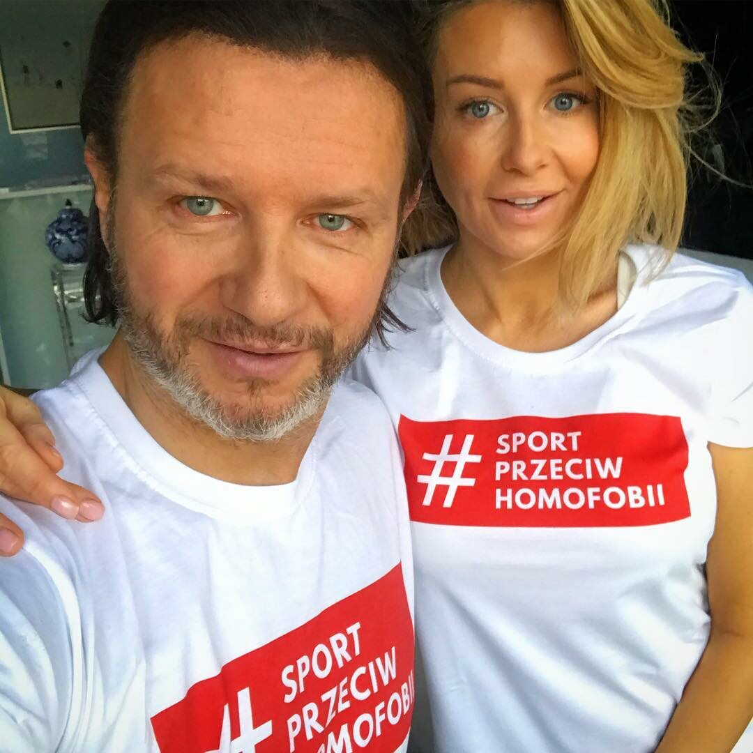 Radosław Majdan i Małgorzata Rozenek-Majdan promują akcję #SportPrzeciwHomofobii
