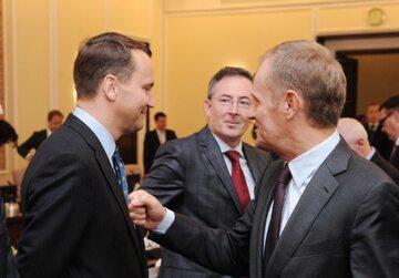 Radosław Sikorski, Bartłomiej Sienkiewicz i Donald Tusk