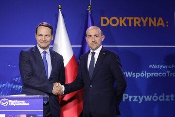 Radosław Sikorski i Borys Budka