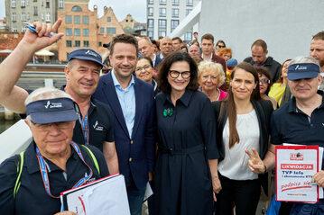 Rafał Trzaskowski, Aleksandra Dulkiewicz i Agnieszka Pomaska