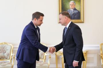 Rafał Trzaskowski i Andrzej Duda. Spotkanie w Pałacu Prezydenckim 30 lipca 2020 roku