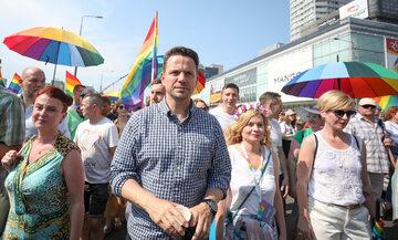 Rafał Trzaskowski na Paradzie Równości w Warszawie