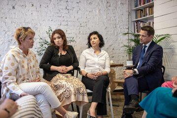 Rafał Trzaskowski na spotkaniu z kobietami prowadzącymi własne firmy