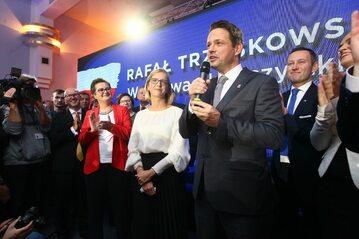 Rafał Trzaskowski po ogłoszeniu sondażowych wyników wyborów