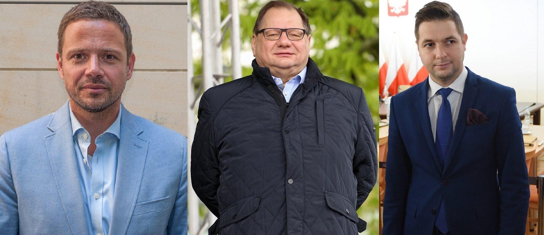 Rafał Trzaskowski, Ryszard Kalisz, Patryk Jaki