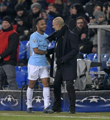 Raheem Sterling i Pep Guardiola