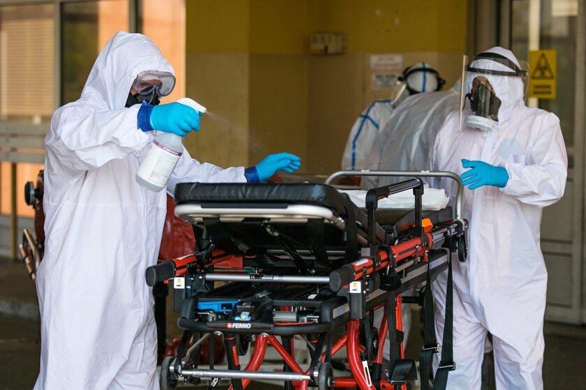 Ratownicy medyczni Szpitala Zakaźnego w Raciborzu