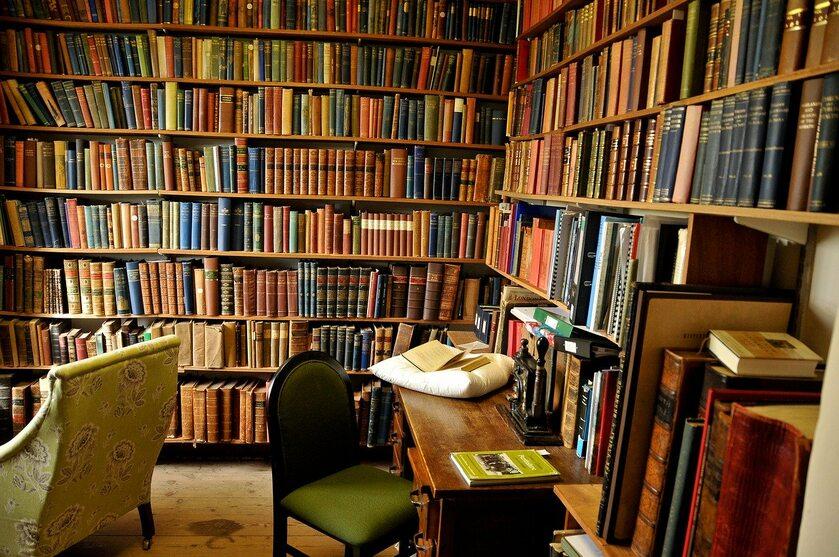 Regały z książkami, zdjęcie ilustracyjne