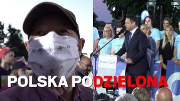 Reportaż z wieczoru wyborczego Rafała Trzaskowskiego