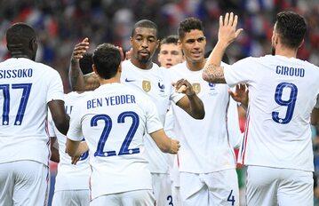 Reprezentacja Francji w meczu z Bułgarią