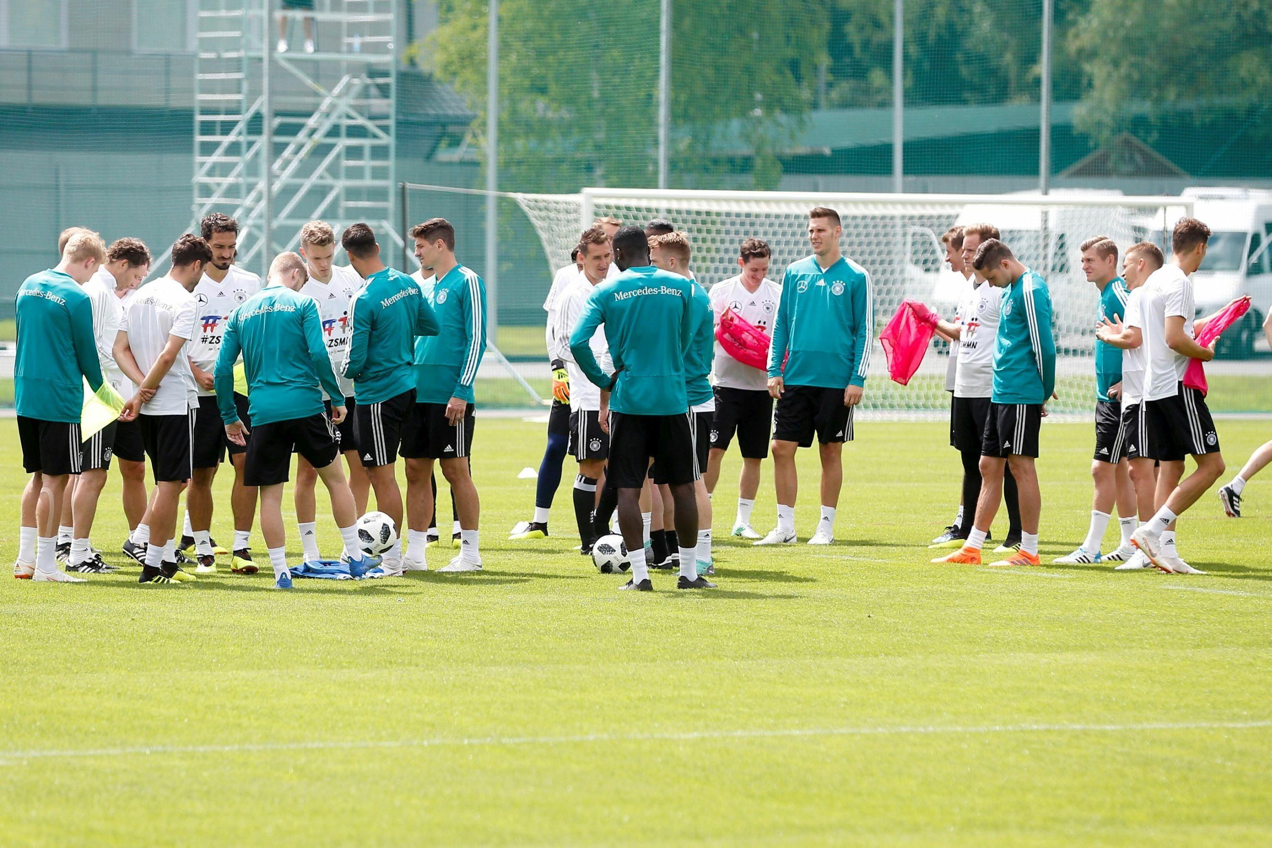 Reprezentacja Niemiec na treningu w Rosji