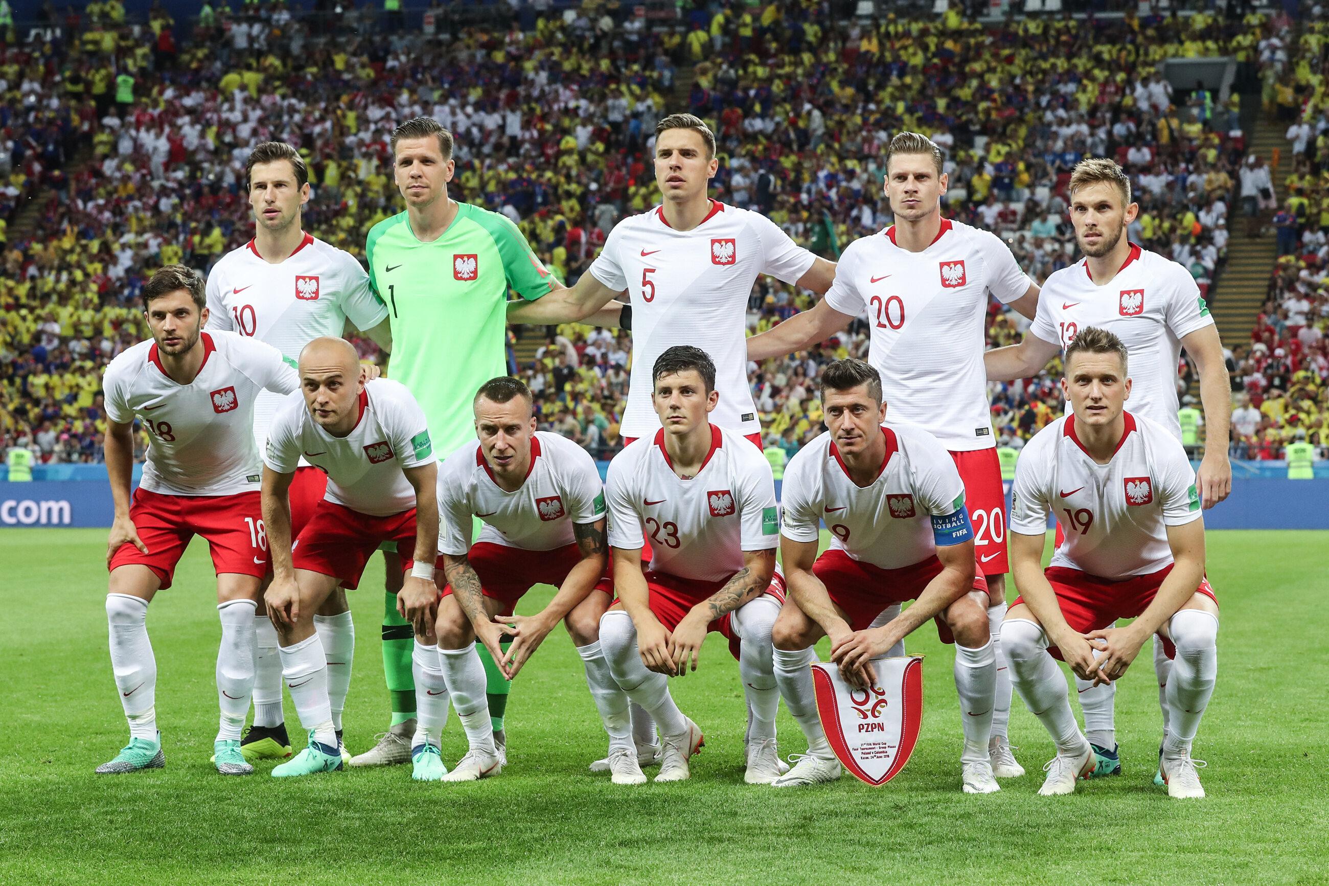 Reprezentacja Polski przed meczem z Kolumbią