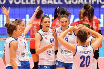 Reprezentacja Serbii w meczu z Tajlandią