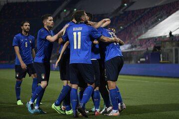 Reprezentacja Włoch w meczu z Czechami