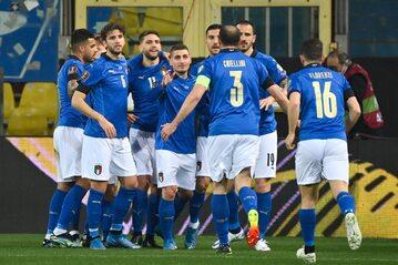 Reprezentacja Włoch w meczu z Irlandią Północną