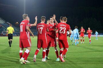 Reprezentanci Polski w meczu z San Marino