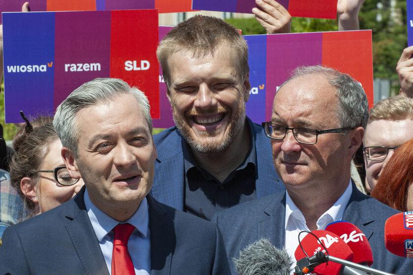 Robert Biedroń. Adrian Zandberg i Włodzimierz Czarzasty