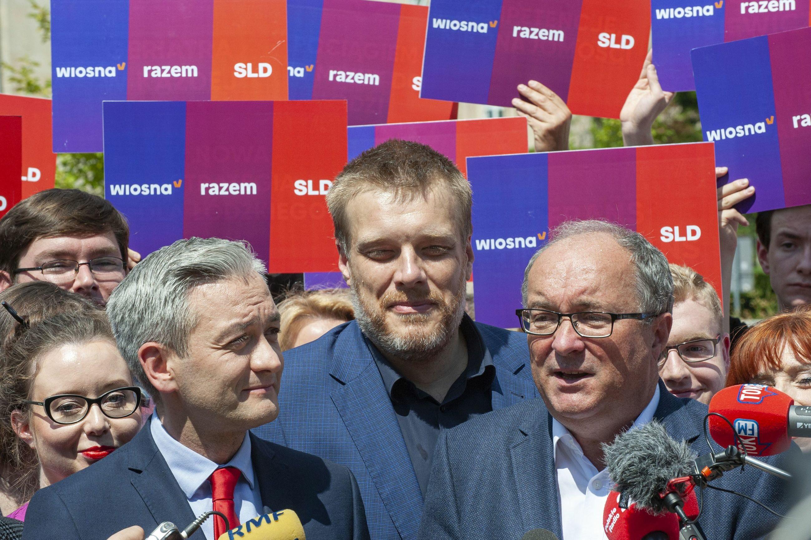 Robert Biedroń, Adrian Zandberg i Włodzimierz Czarzasty