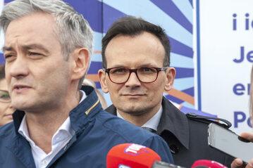 Robert Biedroń i Marcin Anaszewicz