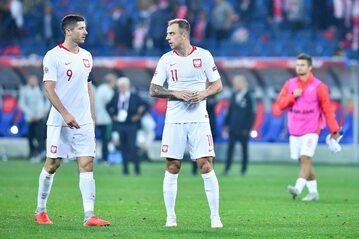 Robert Lewandowski i Kamil Grosicki