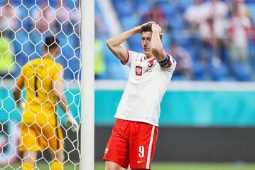 Robert Lewandowski w meczu ze Słowacją