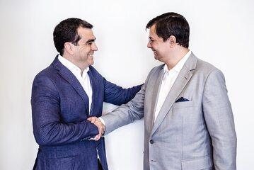 Roberto Griffa CEO Nice and Maciej Fiedler CEO FIBARO
