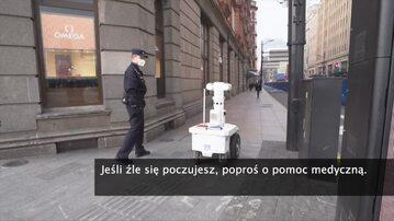 Roboty walczą z koronawirusem