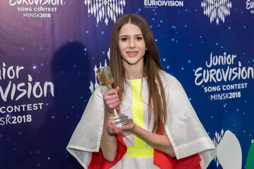 Roksana Węgiel po wygraniu 16. Konkursu Piosenki Eurowizji dla Dzieci w Mińsku