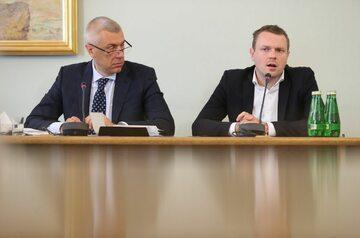 Roman Giertych i Michał Tusk podczas przesłuchania przed komisją ds. Amber Gold
