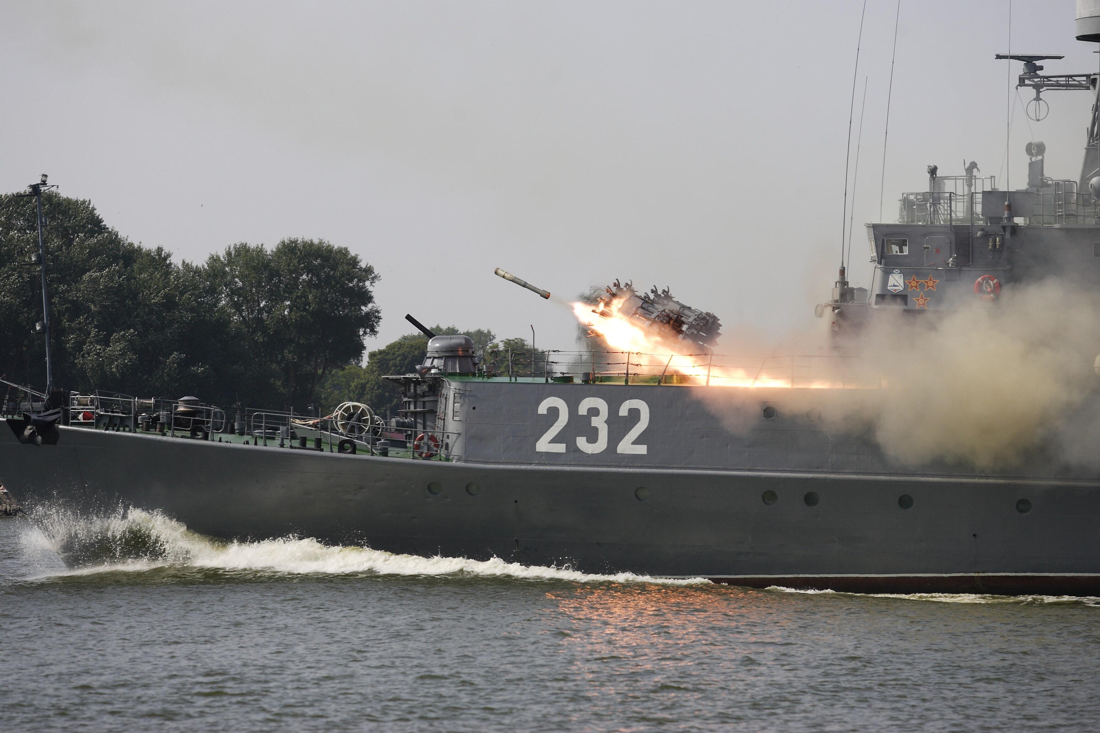 Rosyjska korweta projektu 1331M Parchim - Kalmykiya numer taktyczny 232